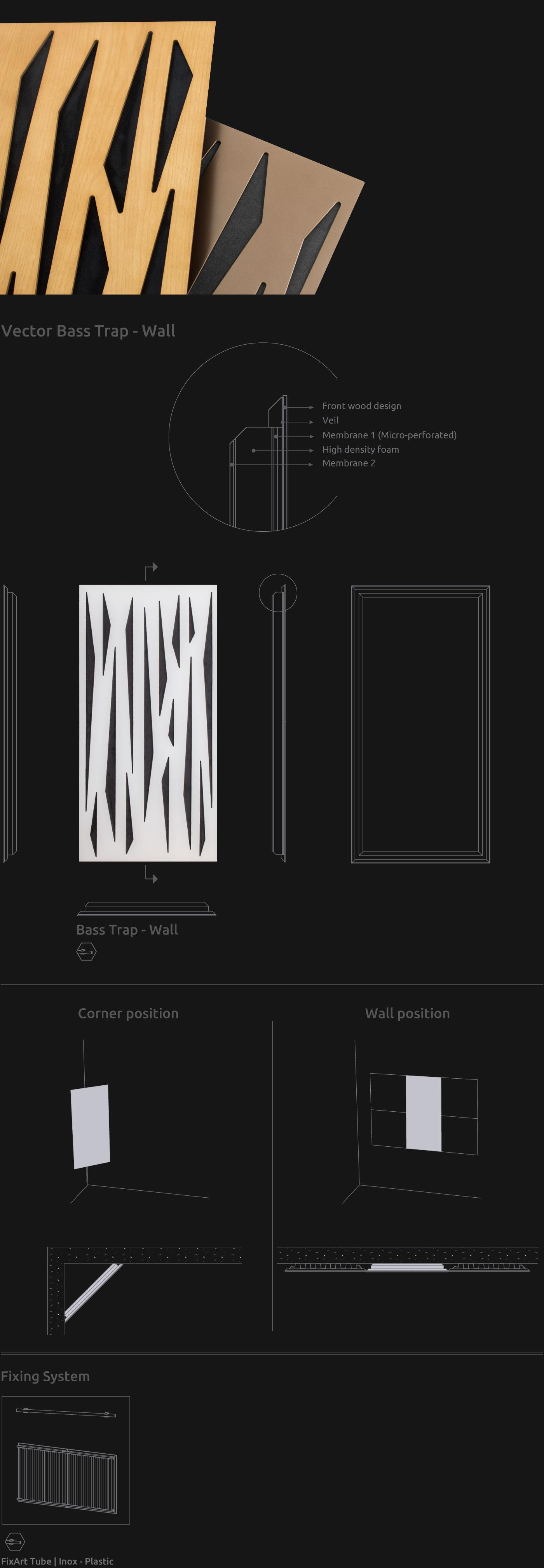 Artnovion product vector doble w bass trap wall be7d0b2235